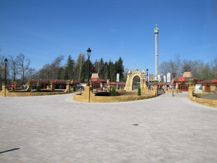 La nouvelle entrée d'Holiday Park.